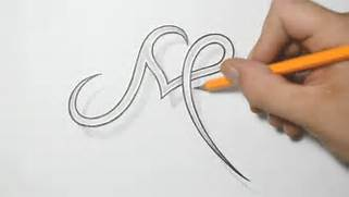 Letter M With Heart