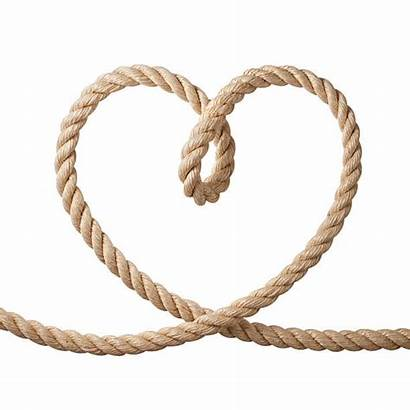 Rope Heart Shaped Knot Corda Forma Cuore