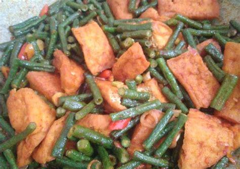Resep masakan sederhana tumis tempe kacang panjang pedas cocok bagi siapapun yang sedang belajar memasak. Resep Tumis kacang panjang tahu extra pedas oleh cindy chintiya - Cookpad