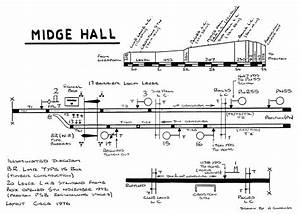 Midge Hall Signal Box Track Layout Diagram Circa 1976
