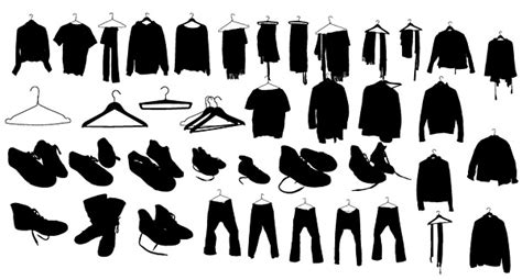 clothes shoes silhouette vector graphic graphic hive