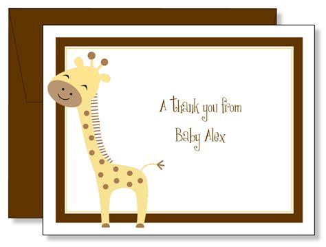 Baby Giraffe Note Cards