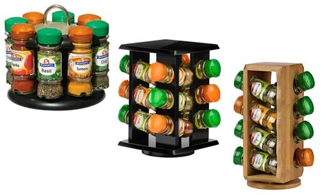 Schwartz Spice Rack 24 by Revolving Spice Rack With Spices Groupon Goods