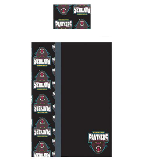 penrith panthers doona cover penrith panthers nrl