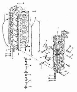 Mercury Marine 90 Hp  6 Cylinder  Cylinder Block