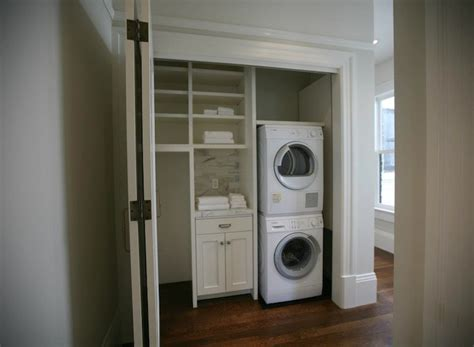 closet washer dryer contemporary laundry room clean