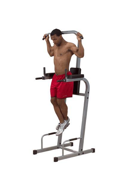 solid powerline chin dip vertical knee raise