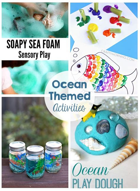 ocean themed kids activities  crafting chicks