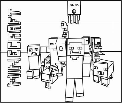 Minecraft Coloring Pages Mob Printable Mobs