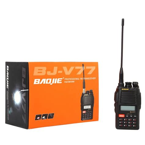 vhf radio range portable range handheld vhf radio 5w 128ch vhf uhf 2 way radio bj v77 buy range