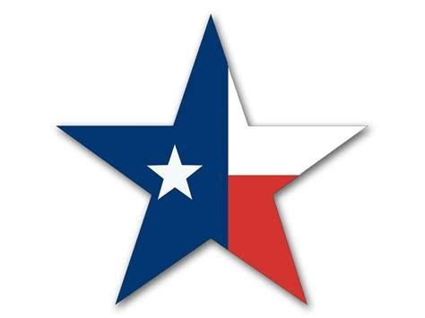 4x4 Inch Star Shaped Texas Flag Sticker