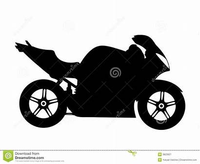 Motorcycle Vector Illustration Royalty Clipart Clip Silhouette