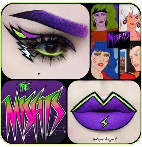 The Misfits eyeshadow and lipstick   Cartoon makeup ...