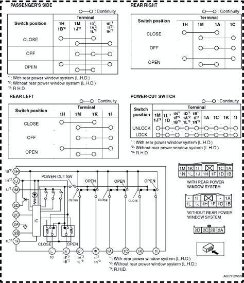 Mazda Service Manual Power Window Main Switch
