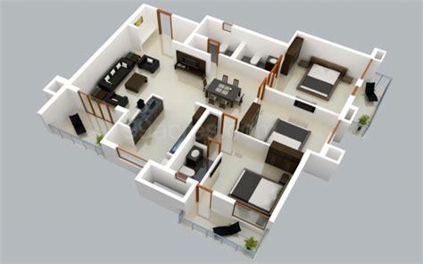 25 Three Bedroom Houseapartment Floor Plans by 25 Three Bedroom House Apartment Floor Plans 3d Floor