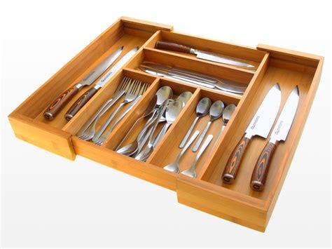 kitchen knife storage drawer expandable flatware and drawer organizer bamboo kitchen 5290