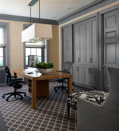 Gray Home Design Ideas by 18 Practical Shared Home Office Design Ideas For More