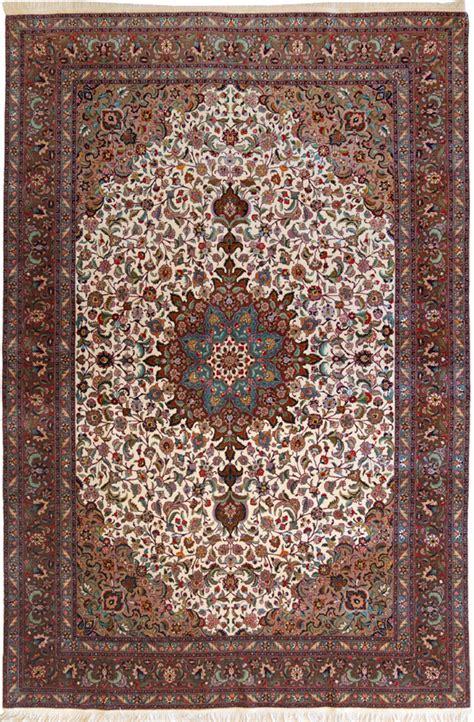 tappeti persiani nain tabriz 60 raj con seta policroma un classico