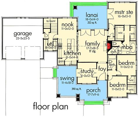 bedroom house plan  swing porch wg architectural designs house plans