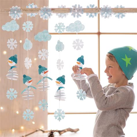Fensterdeko Weihnachten Mit Kindern by Filzf 228 Delei Schneemann Diy Basteln Im Winter Basteln