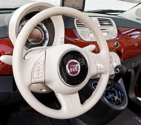 Interni Fiat 500 - kit rinnova colore volante avorio pelle fiat 500 ritocco