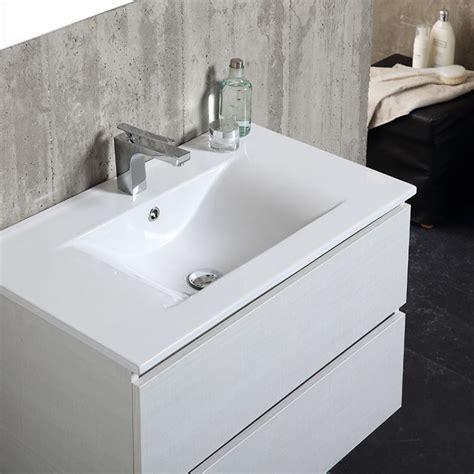 mobile bagno 80 cm mobile bagno da 80 cm con lavabo in ceramica cassetti e