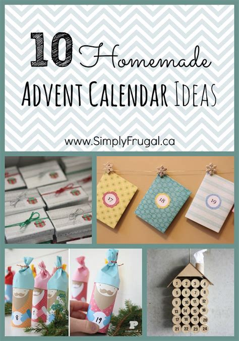 diy advent calendar ideas homemade advent calendar ideas