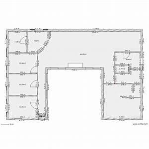 Plan Maison U : maison u plan 10 pi ces 154 m2 dessin par jeremycau81 ~ Dallasstarsshop.com Idées de Décoration