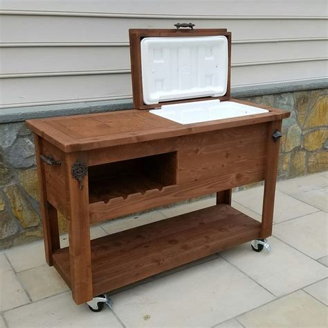 how to make kitchen cabinet 91 best grill tables rustic cooler bars tables 7279