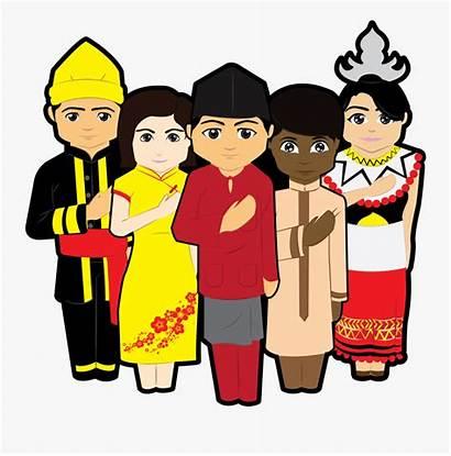 Cartoon Malaysian Culture Clipart Traditional Transparent Thoranam