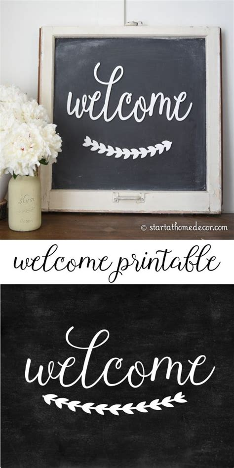 diy chalkboard    printable start  home