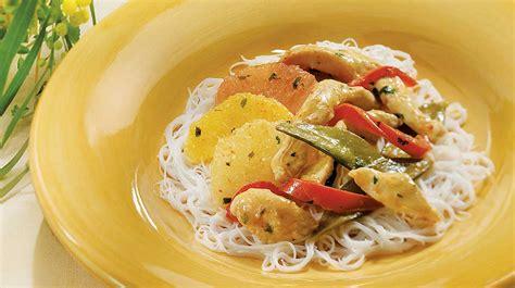 cuisiner les pois mange tout sauté de poulet aux agrumes recettes iga wok légumes