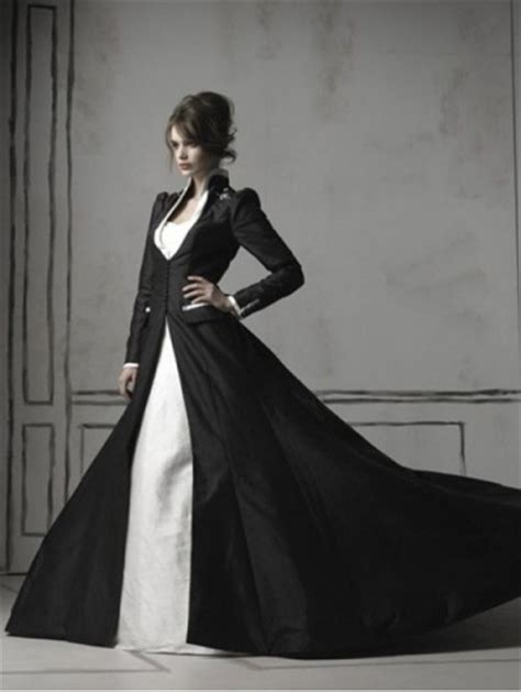schwarzes brautkleid black and white sleeves wedding dress devilnight co uk