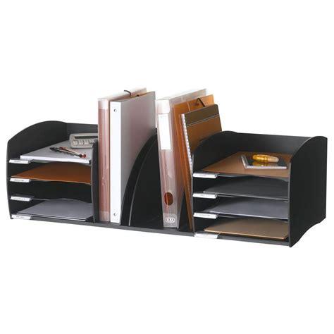 paperflow organiseur de bureau 8 cases noir module de