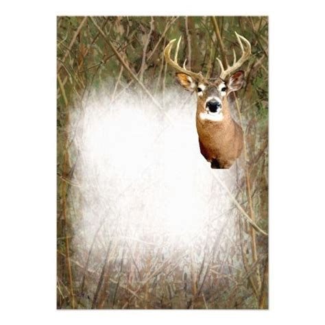 deer stationery paper rustic camo hunting deer antlers