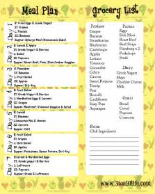 Healthy Weekly Meal Plan with Grocery List