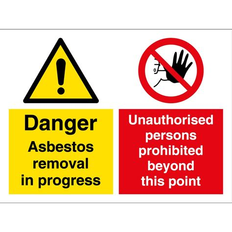 asbestos removal multi message signs  key signs uk