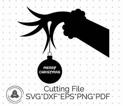 Grinch Svg Clipart Stole Silhouette Christmas Hand