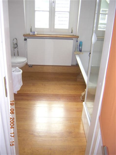 Badewanne Auf Holzbalkendecke by Holzbalkendecke Unter Badezimmer