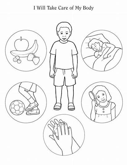 Coloring Human Pages Preschool Parts Healthy Theme