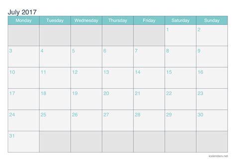 july  printable calendar icalendarsnet