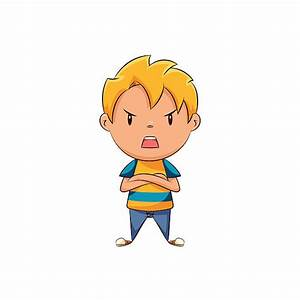 Anger clipart frustrated kid - Pencil and in color anger ...