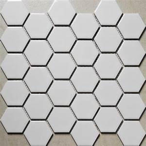 Carrelage Hexagonal Blanc : blanc hexagonal grande mosa que de c ramique carreaux de ~ Premium-room.com Idées de Décoration