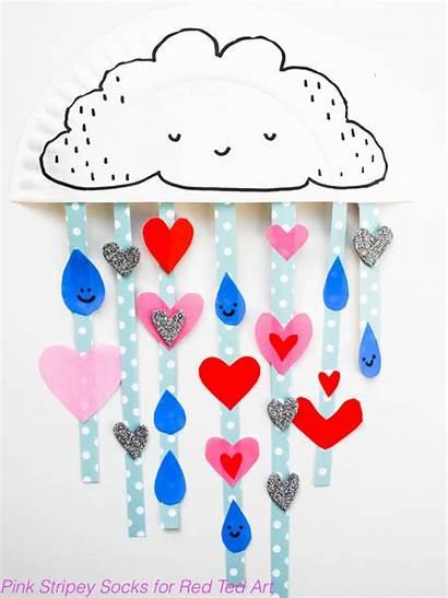 Paper Cloud Plate Valentines Crafts Valentine Shower