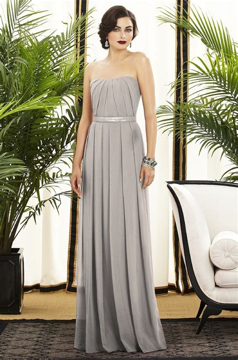 Long Light Grey Bridesmaid Dress Wedding Dresscab