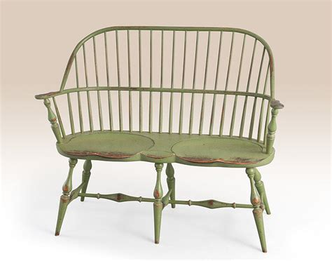 settee bench with back primitive apple green bench sack back settee