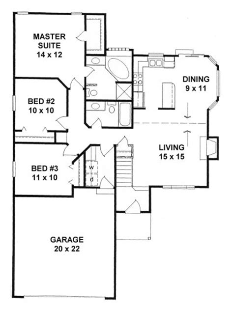 plan   bedroom  bath narrow lot ranch