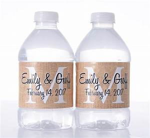 burlap wedding custom water bottle labels labelsrus With custom bottles and labels