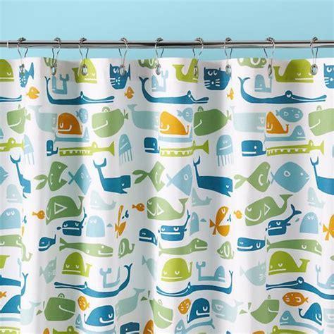 Land Of Nod Shower Curtain - plenty of fish in the sea shower curtain the land of nod