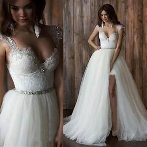 Popular detachable skirt wedding dress buy cheap for Detachable skirt wedding dress